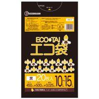 サンキョウプラテック 10-15L 20枚0.025mm厚 黒 LLDPE素材 LN-17 1200枚入(1袋20枚入り×60袋)(取寄品)