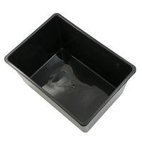 鈴木製作所 角型タライ スーパー 黒 めだか 2250003304706 1個(直送品)