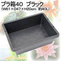 安全興業 プラ箱40 ブラック (W61×D47×H20cm 4560172725546 1個(直送品)