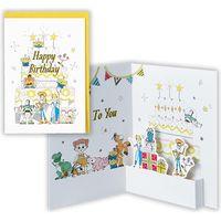 日本ホールマーク グリーティングカード 誕生お祝い 立体ディズニートイ・ストーリ-4 763725 6枚(直送品)