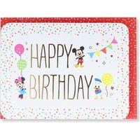 日本ホールマーク グリーティングカード 誕生お祝い 立体ディズニーパルスパーティガーランド 770136 6枚(直送品)