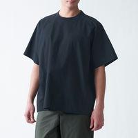 無印良品 インド綿洗いざらし布帛Tシャツ 紳士 L~XL 黒 良品計画