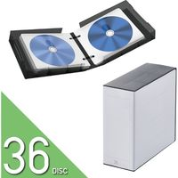 Blu-ray DVD CD対応クリアケース ファイル 36枚収納 不織布 インデックスラベル付 クリア黒 CCD-FBB36BK エレコム 1個(直送品)