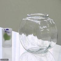 吉田飼料 おしゃれなガラス製金魚鉢 太鼓鉢 中(3.8リットル) 4582162050148 1個(直送品)