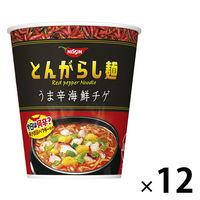 日清食品 日清のとんがらし麺 うま辛海鮮チゲ 1ケース(12食入)