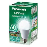 パナソニック LED電球広配光タイプE26口金60W相当昼白色 LDA7NGEW1 1個