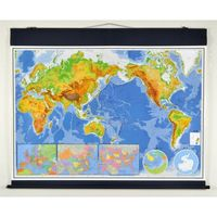 【社会科・地図教材】最新世界詳密大地図 全教図 1本(直送品)
