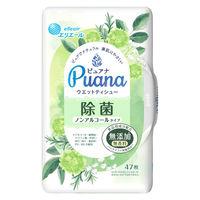 ウェットティシュー 除菌ノンアルコール 本体 1パック(47枚入) エリエール ピュアナ(Puana) 大王製紙