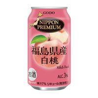 チューハイ NIPPON PREMIUM(ニッポンプレミアム) 福島県産白桃のチューハイ 350ml×3本 サワー 酎ハイ