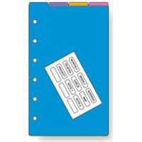 レイメイ藤井 ダヴィンチ リフィル ポケット カラーインデックス 4区分 DPR4288 1セット(5冊)(直送品)