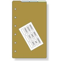 レイメイ藤井 ダヴィンチ リフィル ポケット カラーインデックス 4区分 DPR262 1セット(5冊)(直送品)