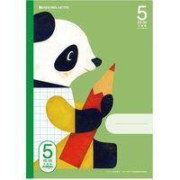ショウワノート 5mm方眼ノート パンダ&クマ 緑 B5サイズ FIS-5G 05705301 10個(直送品)