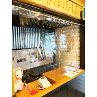森松産業 飛沫感染防止フィルム 防炎・簡易取付タイプ 【幅1370×高さ2000mm】 1枚