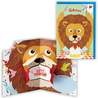 日本ホールマーク グリーティングカード 誕生お祝い 立体ライオンとショートケーキ 753764 6枚(直送品)