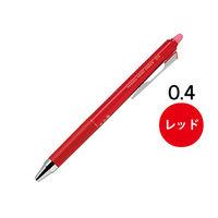 フリクションポイントノック 0.4mm レッド 赤 ゲルインクボールペン LFPK‐25S4‐R パイロット