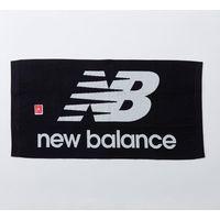 マルチウコーポレーション ニューバランスジャガードバスタオル(B柄)ロゴマーク 黒×白 5-42432-1 1枚(直送品)