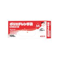 使いきりポリエチレン手袋0.023mm 外エンボス ブルー M 2019BM 1箱(100枚入) 川西工業