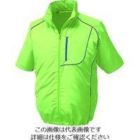 空調服 ポリ製半袖ウエアのみ ライムグリーン 4L KU91720-C17-S6 1着 102-5044(直送品)