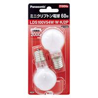 ミニクリプトン電球60W2Pホワイト