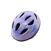 サギサカ 自転車 キッズヘルメット 幼児用 47-54cm バイオレット(プリンセス調柄) 46829 1個(直送品)の画像