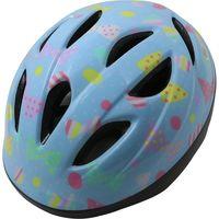 サギサカ 自転車 キッズヘルメット 幼児用 47-54cm 水色(リボン柄) 46827 1個(直送品)の画像