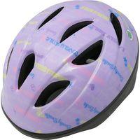 サギサカ 自転車 ジュニアヘルメット 児童用 54-58cm バイオレット(スマイル柄) 46839 1個(直送品)の画像