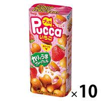 プッカいちご 10箱 明治 チョコレート