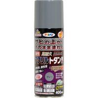 アサヒペン 油性高耐久アクリルトタンスプレー400ML グレー AP9018507 1本(直送品)