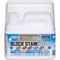 アサヒペン 水性ブロックステイン 0.5L ブラックグレー AP9018675 1個(直送品)