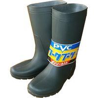 PVCワークブーツ グリーン M #9638-白-M 1個 福徳産業(直送品)