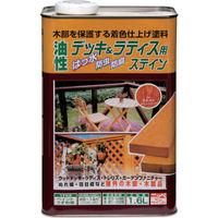 ニッペホームプロダクツ ニッぺ 油性デッキ&ラティス 1.6L メープル HUH001-1.6 1缶(1600mL) 859-8964(直送品)
