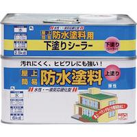 ニッペホームプロダクツ ニッぺ 水性屋上防水塗料セット 8.5kg グリーン HUP001-8.5 1缶(8500g) 859-9043(直送品)