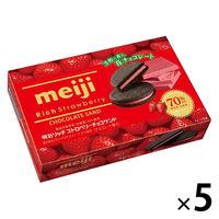 リッチストロベリーチョコサンド ビスケット 5箱 明治 チョコレート