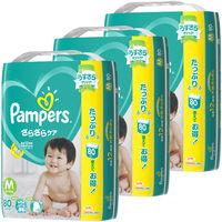 パンパース おむつ テープ M(6〜11kg) 1ケース(80枚入×3パック) さらさらケア ウルトラジャンボ P&G