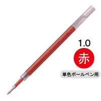ボールペン替芯 サラサ単色用 JF-1.0mm芯 赤 ゲルインク 10本 RJF10-R ゼブラ(わけあり品)