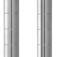 ホームエレクター ステンレスポスト(2本入) 高さ700mm クローム H28PS2 (直送品)