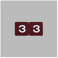 リヒトラブ カラーナンバーラベル ロールタイプ 「3」 HK753R-3 1ロール(300片入)