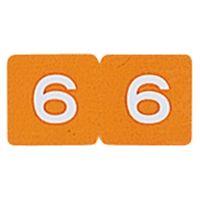 リヒトラブ カラーナンバーラベル ロールタイプ 「6」 HK753R-6 1ロール(300片入)