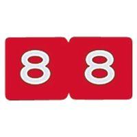 リヒトラブ カラーナンバーラベル ロールタイプ 「8」 HK753R-8 1ロール(300片入)