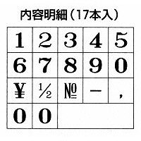 シャチハタ 柄付ゴム印連結式 数字 初号 明朝体 GRN-SM (取寄品)