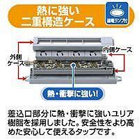 サンワサプライ 工事物件タップハーネスプラグ6ロ 3m TAP-KH6N-3 (直送品)