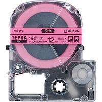 PROテープ12mm 蛍光ピンク 黒文字