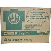 森の町内会コピー用紙FSC認証MX A4 1箱(2500枚:500枚入×5冊) 三菱製紙