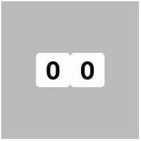 リヒトラブ ナンバーラベル(モノクロ) ロールタイプ 「0」 HK751R-0 1ロール(300片入)