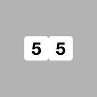 リヒトラブ ナンバーラベル(モノクロ) ロールタイプ 「5」 HK751R-5 1ロール(300片入)