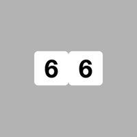 リヒトラブ ナンバーラベル(モノクロ) ロールタイプ 「6」 HK751R-6 1ロール(300片入)