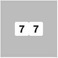 リヒトラブ ナンバーラベル(モノクロ) ロールタイプ 「7」 HK751R-7 1ロール(300片入)