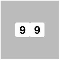 リヒトラブ ナンバーラベル(モノクロ) ロールタイプ 「9」 HK751R-9 1ロール(300片入)