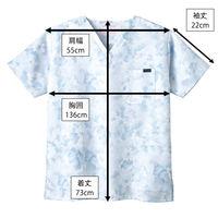 フォーク 花柄スクラブ ブルー 4L 7008SC-2 1枚 (直送品)