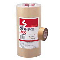 クラフトテープ No.500 茶 5巻入